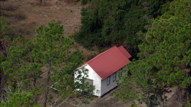 First African Baptist Church  - Aerial View - Georgia,  Camden County,  United States video
