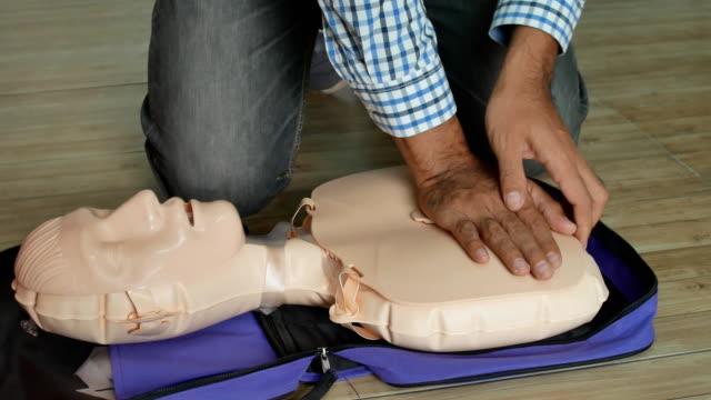 First aid CPR doll dummy for cardio pulmonary training.
