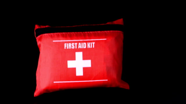 First aid kit falling video