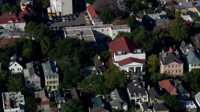 First Baptist Church  - Aerial View - South Carolina,  Charleston County,  United States video