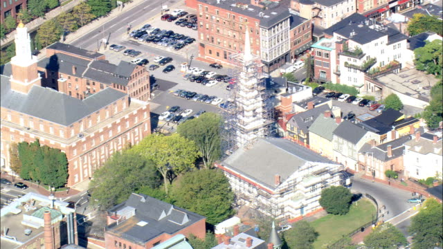 First Baptist Church In America  - Aerial View - Rhode Island, Providence County, United States video