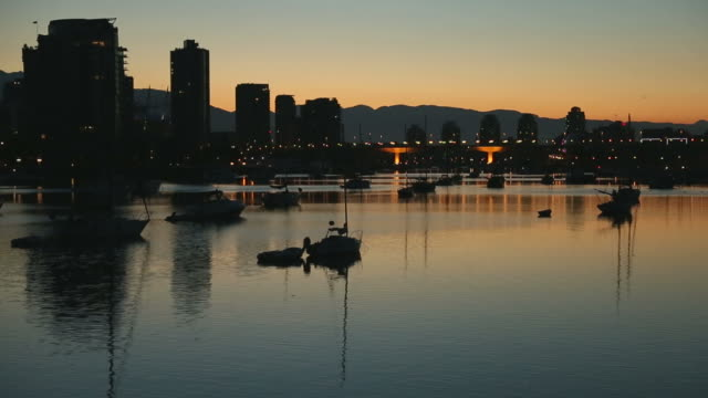First Light Skyline, False Creek, Vancouver video