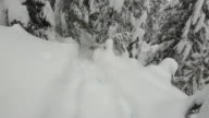 istock First person perspective (POV) of hikers feet stepping into deep snow 1199507175