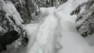 istock First person perspective (POV) of hikers feet stepping into deep snow 1200837679
