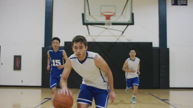 First person view defending a high school athlete dribbling up the court First person view defending a Caucasian high school athlete as he dribbles up the basketball court high school sports stock videos & royalty-free footage