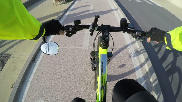 first person view of a bicycle ride in Sardinia, Italy first person view of a bicycle ride in Sardinia, Italy handlebar stock videos & royalty-free footage