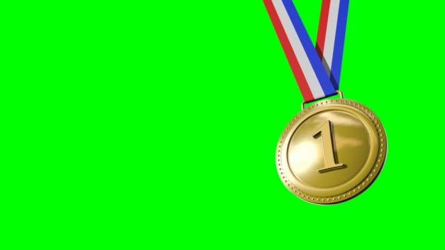 最初の第 2 第 3 のメダルグリーンスクリーン - メダル点の映像素材/bロール