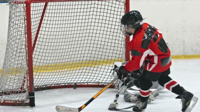 pierwsze kroki w hokeja - łyżwa filmów i materiałów b-roll