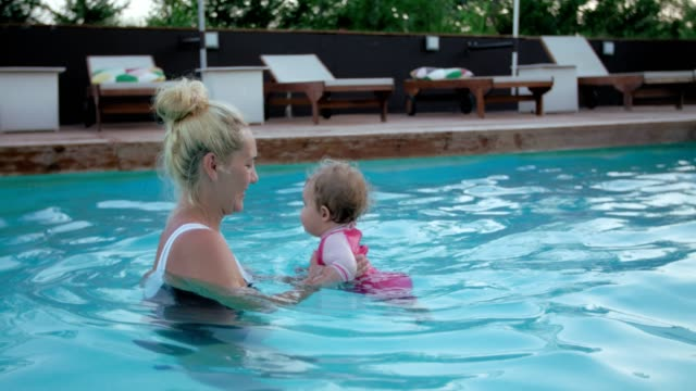 First time at the pool video