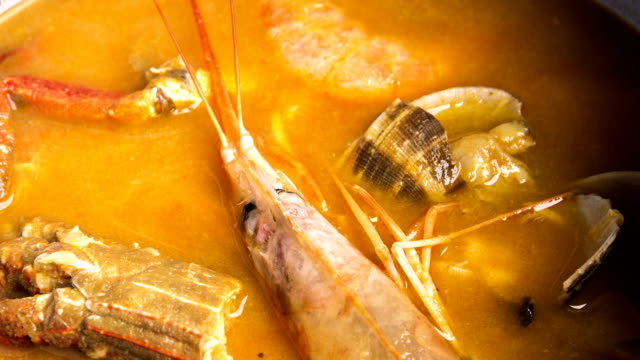 Fish and seafood soup video