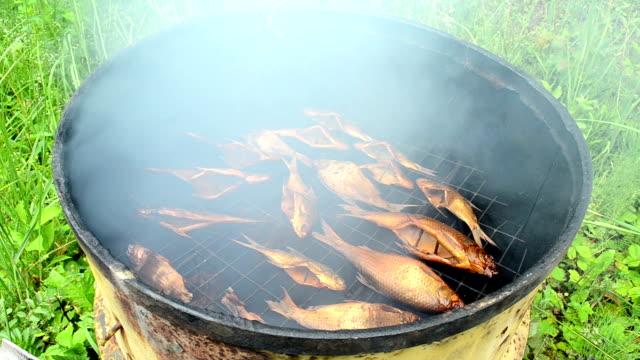 fish smoking rusty barrel video