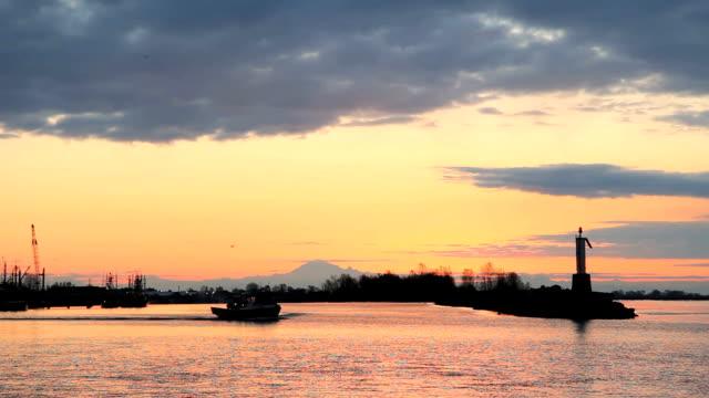 fishboat alba partenza - fiume fraser video stock e b–roll