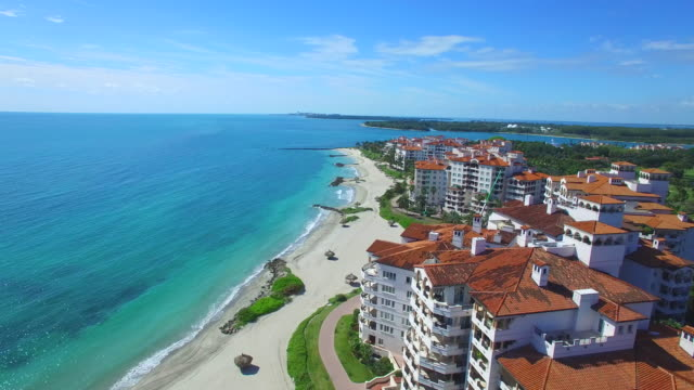 Fisher Island aerial video video