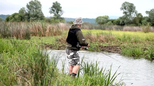 rybak wzrok pike - żabnicokształtne filmów i materiałów b-roll