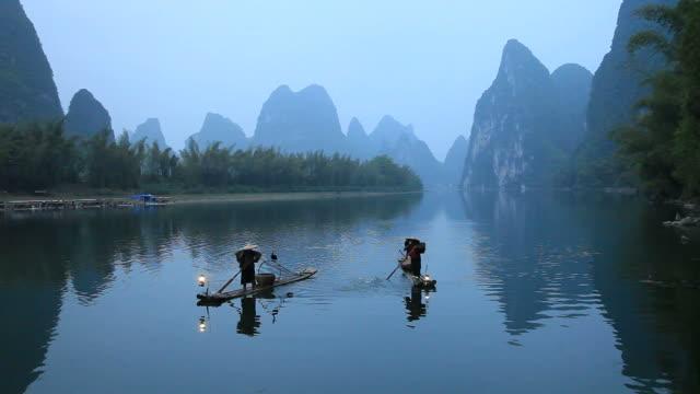 fischer in china - guilin stock-videos und b-roll-filmmaterial