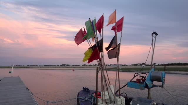 Fishermen's fishing net flags