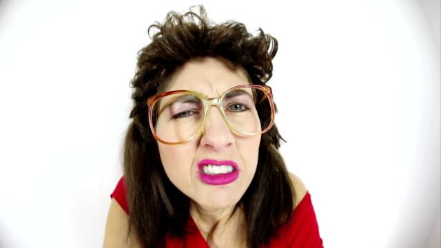 Fisheye Angry 80's Woman video