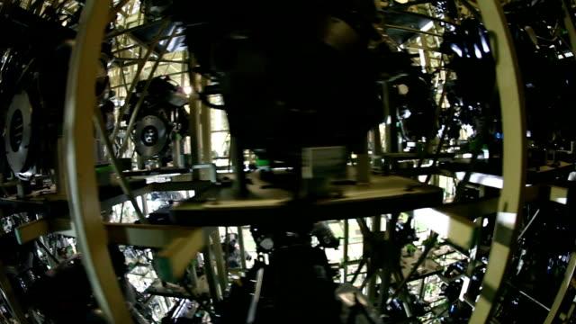 Fisheye,Car factory,Engine video
