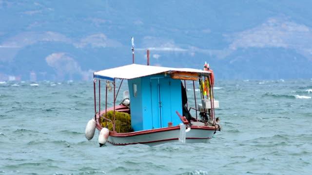 fiskebåtar i viken - turistbåt bildbanksvideor och videomaterial från bakom kulisserna