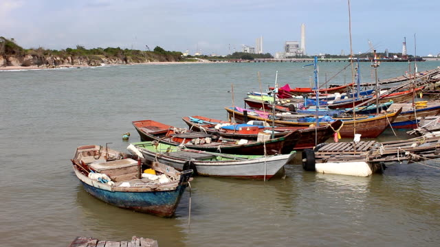 Fishing boats video