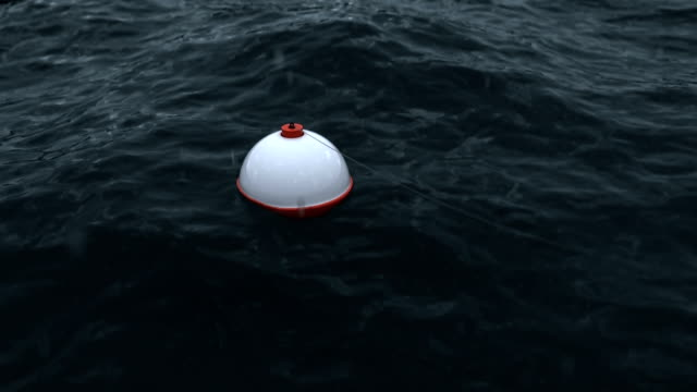 schwimmer auf dem wasser im regen - fischköder stock-videos und b-roll-filmmaterial