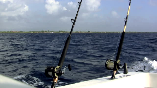 Fishing Poles on Chartered Boat video