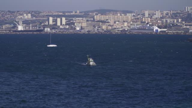 Fishing vessel at Marseille coast
