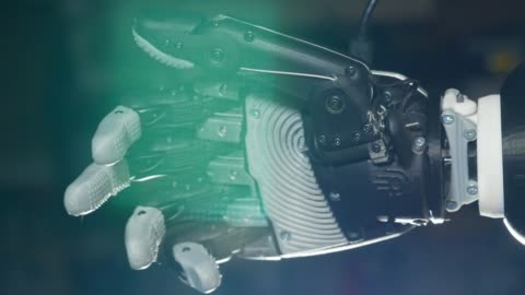 Fist of a bionic hand is squeezing Fist of a bionic hand is squeezing. 4K limb body part stock videos & royalty-free footage