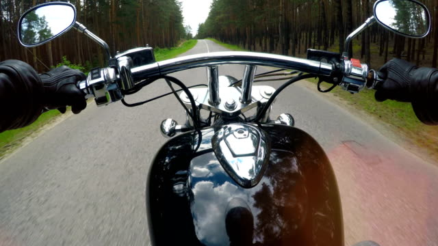 A fist seat view on a motorcycle ride. 4K. video