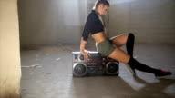 istock Fit dancing girl 615475022