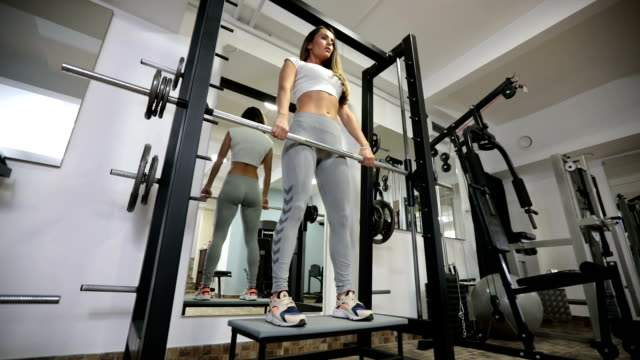 Fit woman in gym video