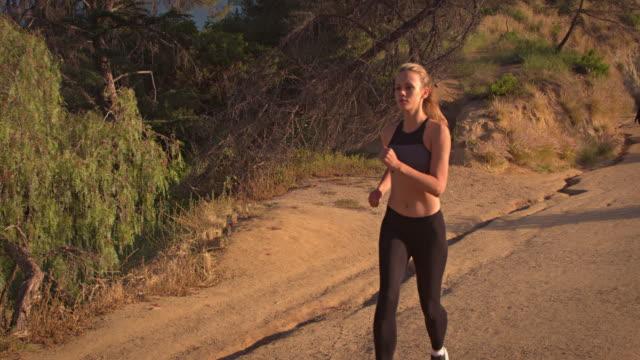 Fit Woman Jogging Los Angeles Slow-Motion