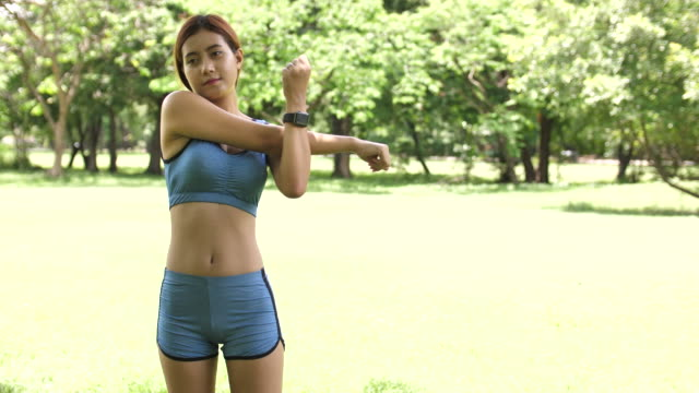 Fitness and exercising in Park video
