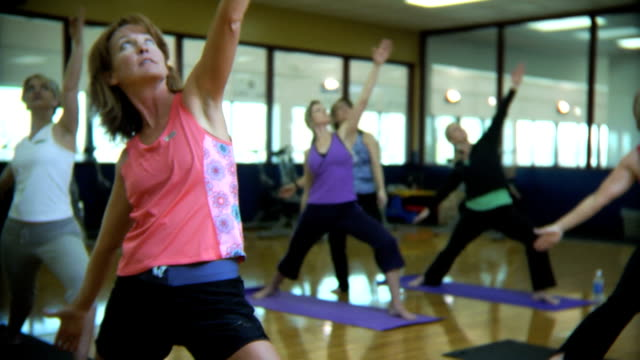 Fitness class video