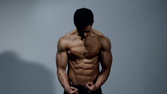 Fitness Model Displays His Muscular Torso 2 video