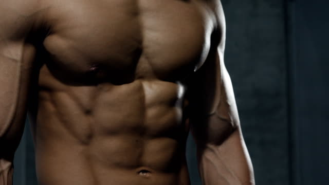 A Fitness Model's Upper Body in Detail video