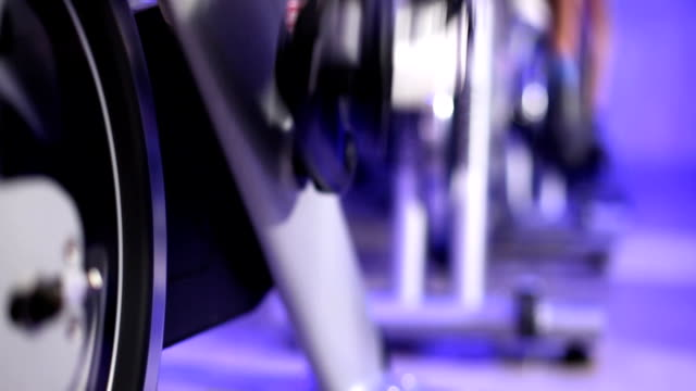 Fitness: Spinning class video