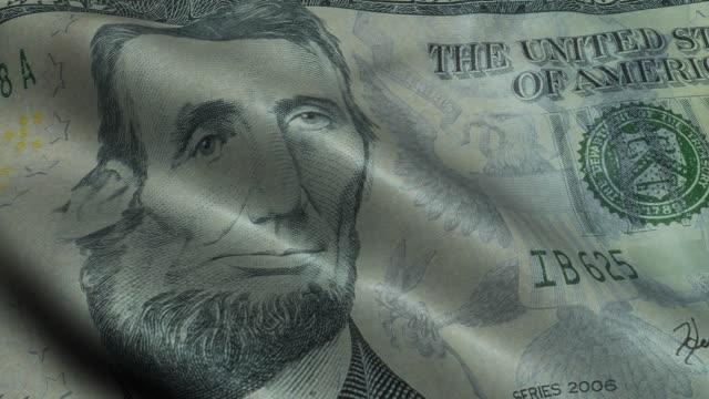 Five Dollar Bill Closeup US Five dollar bill closeup macro 5 usd banknote
