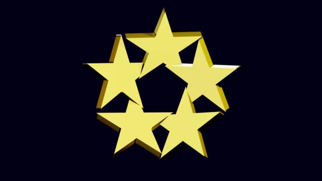 Cinq étoiles dorées - Vidéo