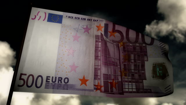 Five Hundred Euros bill flag