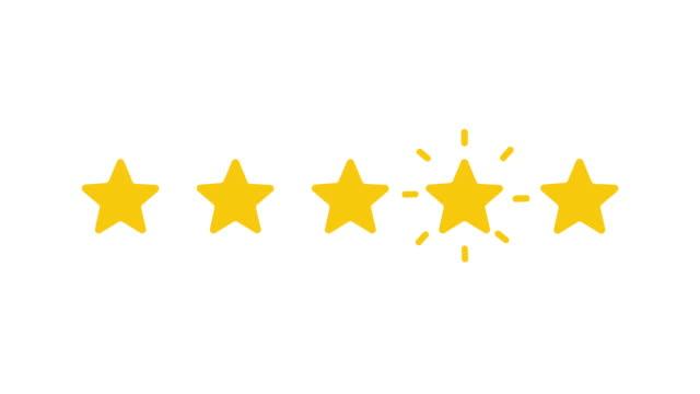 vídeos de stock e filmes b-roll de five stars. - shop icon