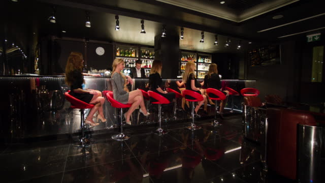 Five women sitting at bar video