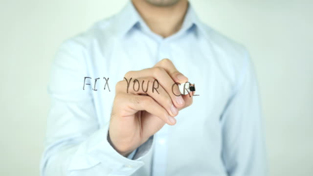 Fix Your Credit, Writing On Transparent Screen