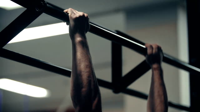fixed bar workout - strength training stock videos & royalty-free footage