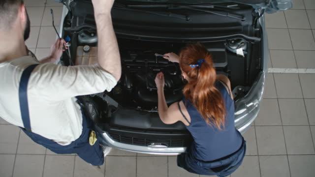 Fixing Car at Repair Workshop video