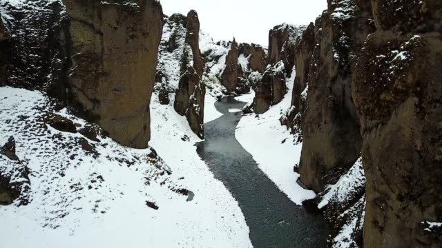 Fjadrargljufur canyon in iceland video