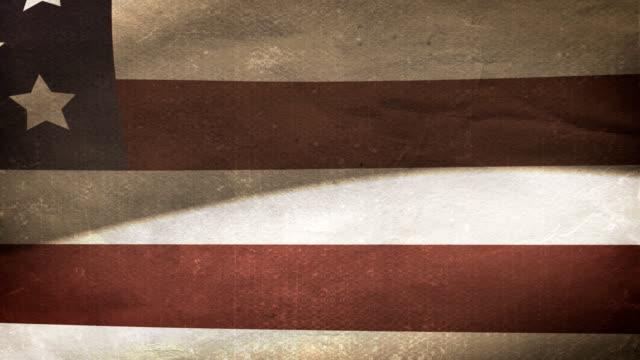нас флаг-старый - состаривание стоковые видео и кадры b-roll