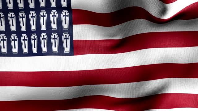 flag American war graves video