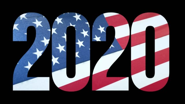 USA Flag and US Election 2020 Background