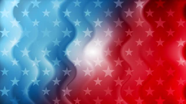 usa flaga kolory i gwiazdy abstrakcyjne faliste amerykańskie tło ruchu - american flag filmów i materiałów b-roll